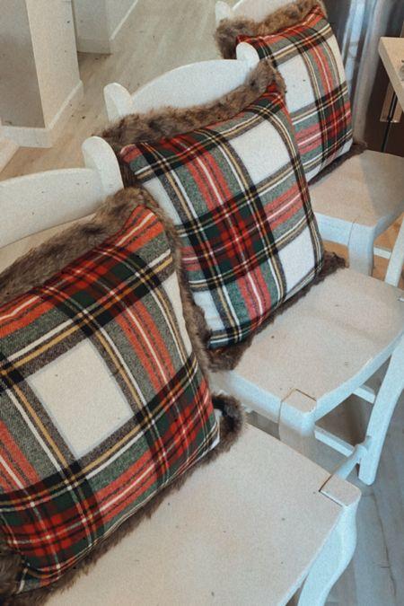 Christmas Pillow Tartan Plaid Pillows Throw Pillows  Christmas Home Decor   #LTKgiftspo #StayHomeWithLTK #LTKhome