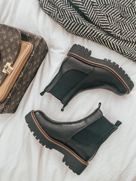 Lug boots, Chelsea boots 🤍 currently up to 25% off (depending on cart price) with code STYLE  #LTKsalealert