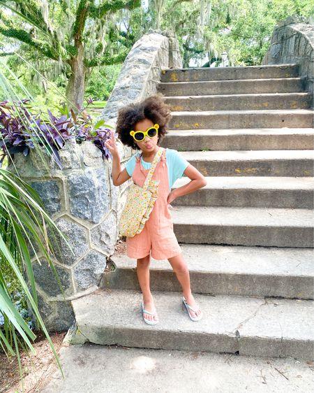 Girls overalls + Kids flip flops + Girls multicolor purse from Target http://liketk.it/3h7yV #liketkit @liketoknow.it #LTKkids #LTKfamily #LTKunder100