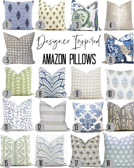 It's a pillow party! Love these designer inspired throw pillows - all on amazon! #amazon #founditonamazon  #LTKhome