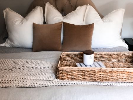 We have these euro target pillows on bed here (supple for that perfect karate chop) and three similar square throw pillows for our couch! The comfort is next level and husband approved   #LTKunder50 #LTKhome #LTKSeasonal