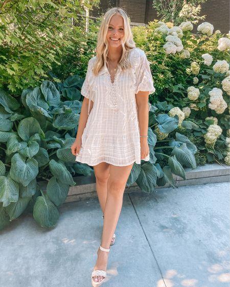 I've never met a white dress I didn't like 💁🏼♀️ runs TTS, not to short for us tall girls http://liketk.it/3k7O8 #liketkit @liketoknow.it #LTKunder100 #LTKunder50