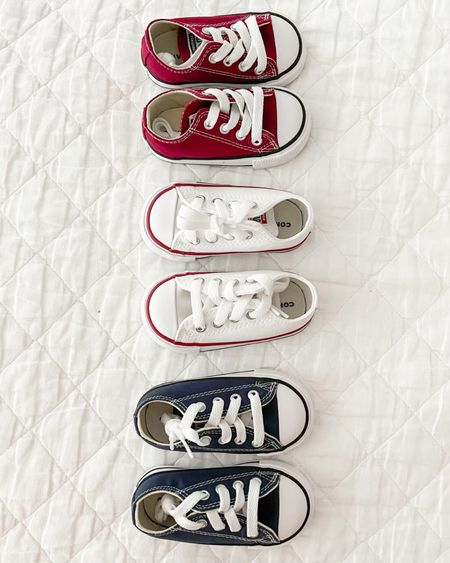 We love these Converse Chuck Tylor All Stars in all the colors! Baby girl shoes toddler shoes girl shoes tennis shoes toddler fashion family pictures play shoes  #LTKbaby #LTKshoecrush #LTKunder50