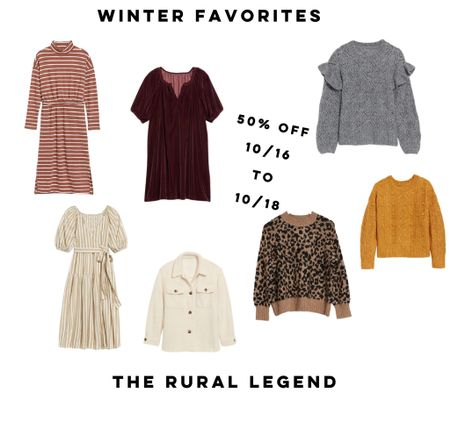 These gorgeous women's winter styles are all 50% off right now and I'm in love with all of it!!!  #LTKGiftGuide #LTKcurves #LTKunder50
