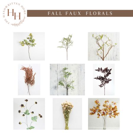 Faux florals + dried florals for fall  Fall foliage   fall florals   dried fall flowers   shelf decor   console table decor   afloral stems   fall stems  #LTKSeasonal #LTKhome #LTKsalealert