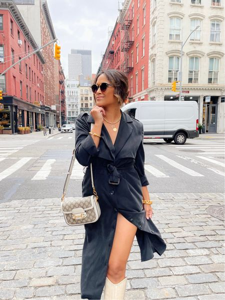 My lightweight trench duster is marked down to only $69! I'm wearing it here as a dress! (This offer lasts only until 11:59PM CST Saturday)   #workwear #casualworkwear #nycoutfit #streetstyle #gibsonlook #electricpicks #trenchdress #gucci #falloutfits #krewe #kneehighboots  #LTKsalealert #LTKunder100 #LTKworkwear