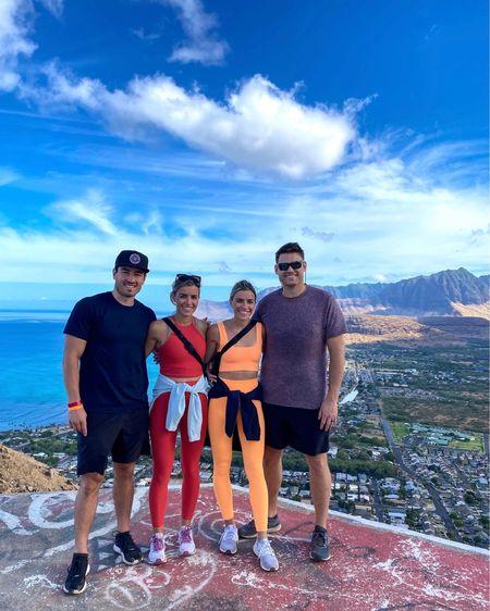One of the best hikes ever!  Kate: red Leggings size small, top size small  Anne: orange leggings & sports bra size XS/S   #LTKmens #LTKunder100 #LTKtravel