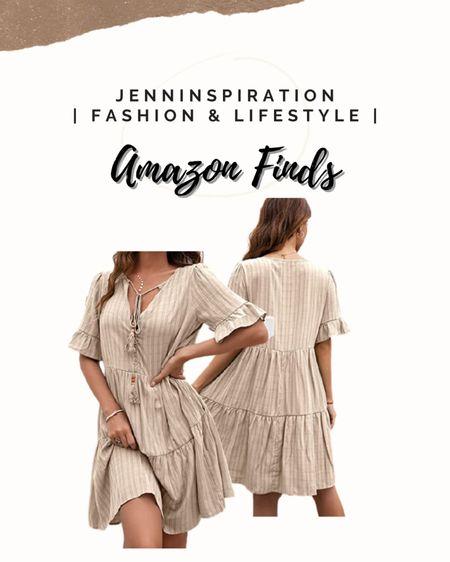 Stripe boho flowy dress under $30 from Amazon http://liketk.it/3gJbD #liketkit @liketoknow.it You can instantly shop my looks by following me on the LIKEtoKNOW.it shopping app #LTKDay #LTKstyletip #LTKsalealert