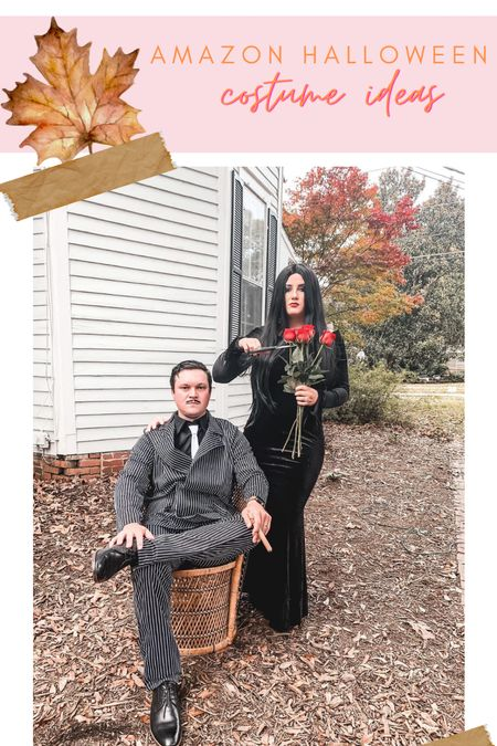 Halloween couples costumes morticia and Gomez Addams family spooky