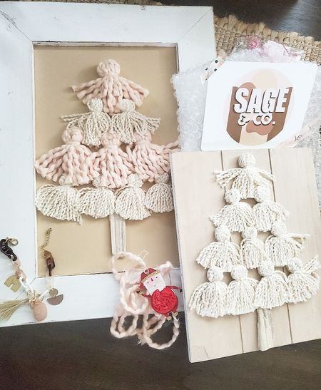 These little tassel Christmas trees are homemade & come in different color options. Soo cute for leaning against a fireplace or on a shelf. Also love this fun little bracelet I got, check out this little shop if you love boho like I do 🥰   Color ways shown here in case you are interested in the exact same:  cream & pink cream tassel beige Boho charm bracelet  http://liketk.it/3pDsL @liketoknow.it @liketoknow.it.home #liketkit #LTKGiftGuide #LTKHoliday #LTKSeasonal #LTKbeauty #LTKhome #LTKsalealert #LTKstyletip #LTKunder50 #LTKunder100