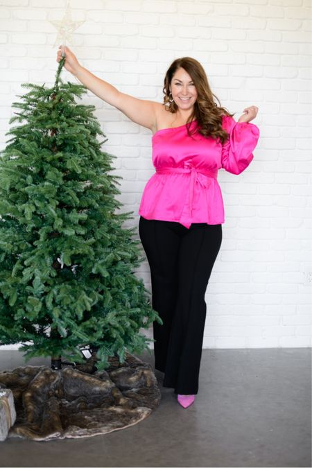 Gibsonlook x Hi Sugarplum Holiday Collection   Use code RYANNE15 to save 15% on the entire collection!   Fit tips: blouse size down, need M // Flare pants size up if in between XLP (10% off with code RYANNEXSPANX) // pumps tts  #LTKshoecrush #LTKstyletip #LTKHoliday