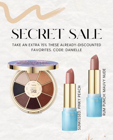 Tarte secret sale! Use code DANIELLE for an extra 15%