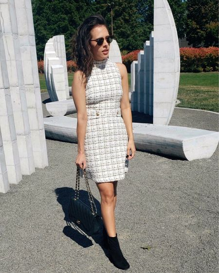 I love tweed for fall and this tweed dress by Alexia Admor is a new favorite 🤍 Paired it with boots and a Chanel bag for a classic chic look. http://liketk.it/2XnaJ @liketoknow.it #liketkit #LTKstyletip #ClassicStyle #Tweed #FallFashion #FallStyle