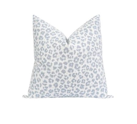 My favorite blue and white leopard print pillow cover! Such a great pillow to add a punch of pattern to your space! Animal print pillow!   #LTKstyletip #LTKunder100 #LTKhome