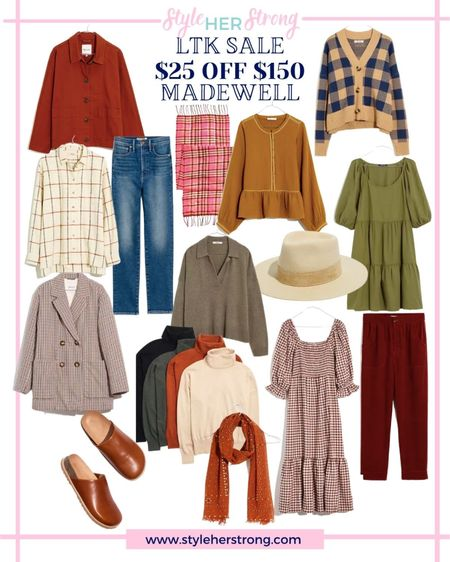 Smocked dress corduroy pants shacket booties cardigan the best straight leg jeans mules clogs plaid scarf wide brim hat   #LTKsalealert #LTKSale #LTKSeasonal
