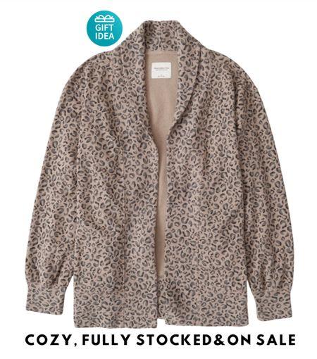 Open front fleece jacket; cardigan, on sale for $49 — great gift!   #LTKHoliday #LTKsalealert #LTKGiftGuide
