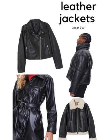 4 types of the leather jacket trend 🖤 Under $50 too 🙌 http://liketk.it/33JjM #liketkit @liketoknow.it #LTKunder50 #LTKstyletip #LTKgiftspo