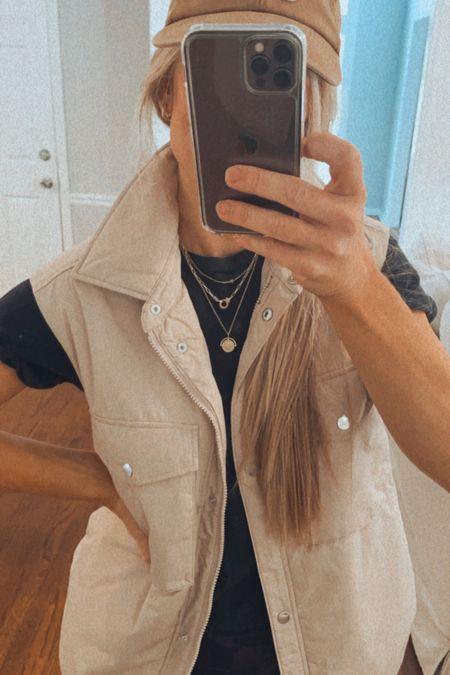 Necklaces I'm loving!  Utility vest size small   #LTKunder50