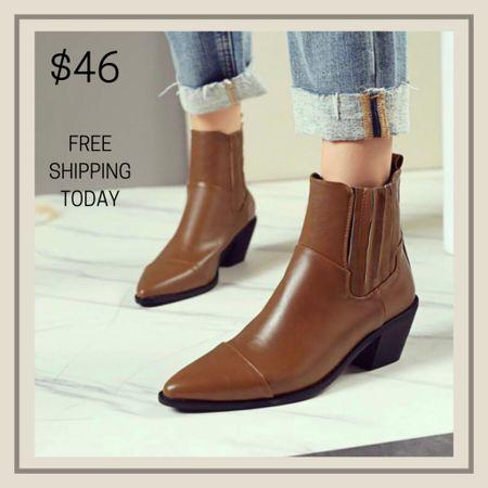 Ruched detail chunky boots for Fall  #LTKstyletip #LTKunder50 #LTKshoecrush