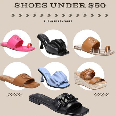 Cute Slides and sandals under $50  http://liketk.it/3ipGy #liketkit @liketoknow.it #LTKsalealert #LTKshoecrush #LTKunder50