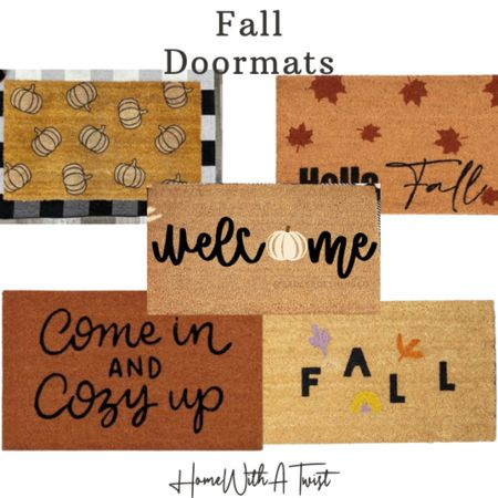Fall doormats - pick one up and spice up your entryway for the new season!   #LTKhome #LTKHoliday #LTKfamily