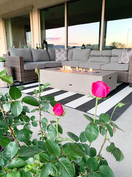 My outdoor patio set is back in stock! Patio furniture, outdoor rug, outdoor tables, outdoor furniture, patio, sectional, outdoor table, a Modern Farmhouse Glam http://liketk.it/3ie0K #liketkit @liketoknow.it #LTKhome #LTKsalealert @liketoknow.it.home You can instantly shop my looks by following me on the LIKEtoKNOW.it shopping app. Walmart patio furniture.