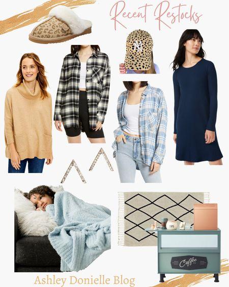 Recent restocks - flannels, blanket, rug, toy barista, dress, slippers + ball cap!   #LTKkids #LTKstyletip #LTKhome
