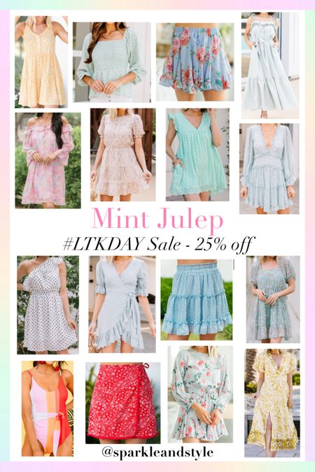 LTK Day Sale: Mint Julep - 25% off    http://liketk.it/3hvyg @liketoknow.it #liketkit #LTKDay #LTKsalealert #LTKunder100   Summer fashion, summer styles, summer dresses, summer tops, summer skirts, summer rompers, swimsuit, floral dresses, maxi dresses, midi dresses, mini skirts, puff sleeve dress, floral romper, wrap dress, colorblock swimsuit, red printed paisley skirt, yellow floral dress, floral top, ruffle dress, off the shoulder dress, polka dot dress, one shoulder dress, eyelet lace romper