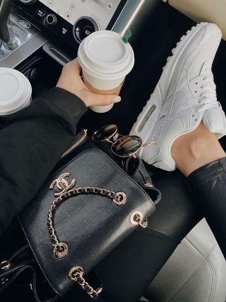 Nike sneakers with Chanel backpack #fallootd   #LTKSeasonal