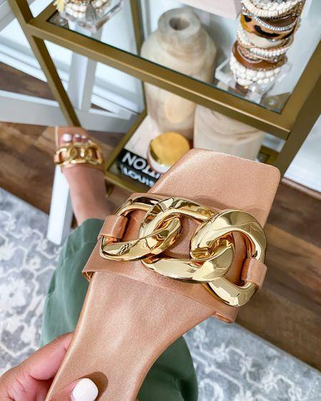 The cutest chain sandals.  #LTKshoecrush #LTKunder100