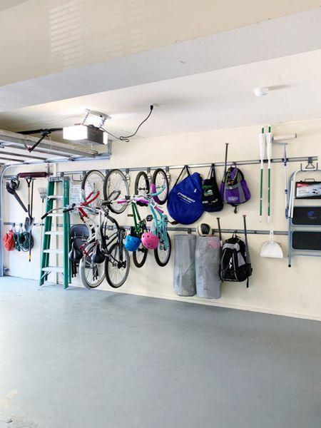 Garage storage solutions. #garage #garageorganization #garage #bikestorage #bike #organization  #LTKhome