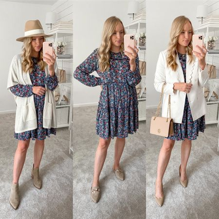 Wear this Target dress casually on the weekend or dress it up for work. The length and comfort would be great for back to school teacher outfits! Wearing a small and it runs a little big #ltkworkwear #teacheroutfit #targetstyle