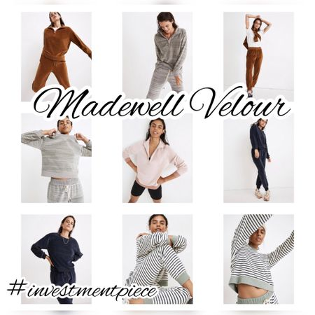Buy early! Velour sets make great holiday gifts (comfy and on trend with a slight 90s throwback!) shop @madewell 9/19-21 for the #LTK early gifting sale and get $25 off orders of $150 (so you can buy for you and them!) #investmentpiece   #LTKGifts #LTKstyletip #LTKSale