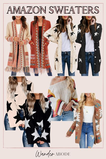 Boho fall sweaters & cardigans from Amazon  #LTKunder50 #LTKSeasonal #LTKunder100