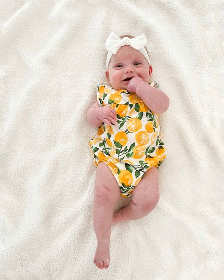 Cute baby girl lemon clothes 🍋    http://liketk.it/3fBSN #liketkit @liketoknow.it #LTKbaby #LTKkids #LTKunder50