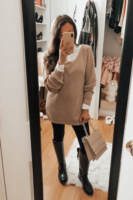 Fall Outfit. Holiday Outfit. 70% OFF at. Missguided ✨ Knit Sweater. Black Pants.  #HolidayStyle #Outfitidea #Fallstyle    #LTKsalealert #LTKSeasonal #LTKHoliday