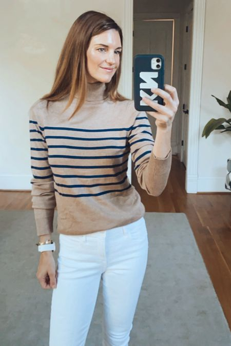 Turtleneck outfits, neutral outfits, wear to work, over forty style, amazon finds, Kellie   #LTKunder50 #LTKSeasonal #LTKworkwear