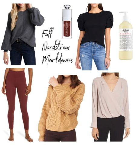 Nordstrom sale, Dior makeup, sweater, fall outfit   #LTKbeauty #LTKunder100 #LTKsalealert