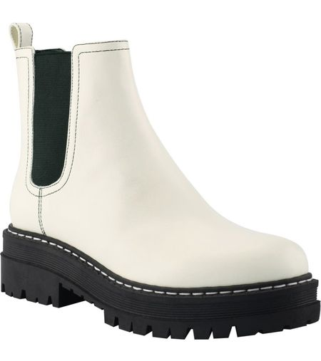 White Chelsea bootie on sale. Multiple colors true to size!    #LTKsalealert #LTKshoecrush #LTKstyletip