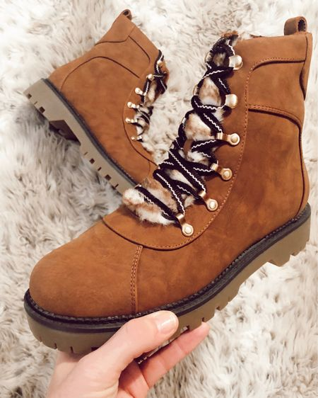 Shearling winter boots under $100 ❄️ Runs TTS. Available in Black and tan. http://liketk.it/2HYiv @liketoknow.it #liketkit #LTKunder100 #LTKshoecrush #LTKholidaygiftguide snow boots, sherpa boots, combat boots, women's boots