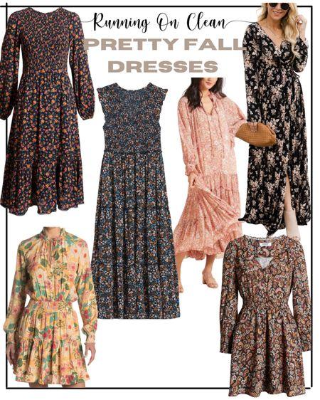 Pretty fall floral dresses // family photo outfit ideas   #LTKsalealert #LTKSeasonal #LTKunder50