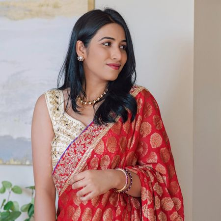 Saree blouse | gold jewelry  #amazonfinds  #sareeblouse #cropblouse #desiwear #goldnecklace http://liketk.it/3pNYf @liketoknow.it #liketkit #LTKHoliday #LTKSeasonal #LTKunder100 #LTKunder50 #LTKstyletip #LTKsalealert