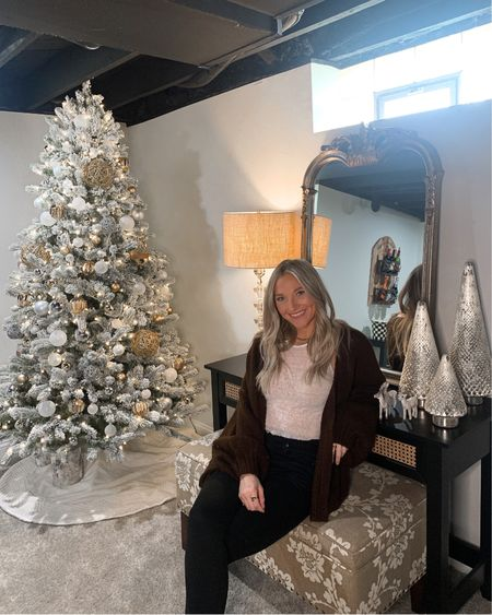 I have another room reveal live on the blog tonight... my BASEMENT 🤎 what better time than when it's decorated all cute for the holidays?? check out my post in my bio if you're a home decor lover like me #liketkit @liketoknow.it http://liketk.it/34szb