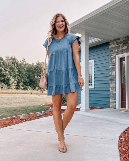 We don't have any weddings on the radar, but this outfit would be the perfect budget friendly option! My dress is just $15 and these low heel braided sandals are $20! Linked everything in my @shopltk profile-search stangandco! — #LTKunder50 #LTKsalealert #LTKstyletip