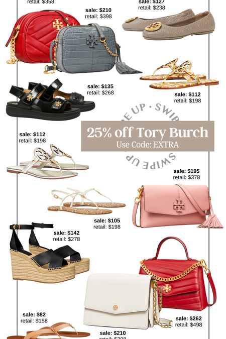 Tory Burch semi-annual sale! Get an extra 25% off with code EXTRA designer sale Tory Burch sandals Tory Burch wallet Tory Burch bag luxury sale luxury bag Tory Burch wedges luxury flats gift for her designer camera bag luxury satchel designer sandals Tory Burch crossbody  #LTKsalealert #LTKshoecrush #LTKitbag http://liketk.it/3hUIf #liketkit @liketoknow.it