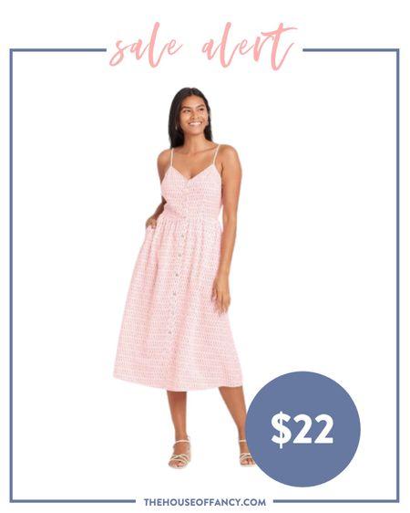 This dress just landed on targets website and is so sweet! Currently 20% off right now.   #LTKunder50 #LTKsalealert #LTKSeasonal