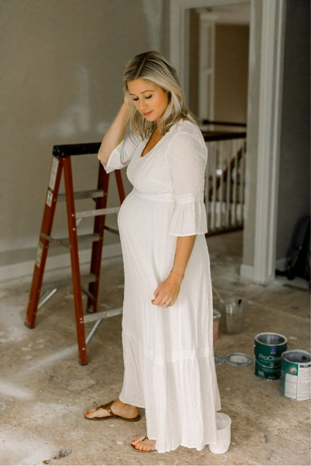 July means just one more month until baby! And I'm totally not stressing that the nursery still looks like this… 😅 also, fifth baby means this is the fastest pregnancy EVER. I swear we just found out! We are savoring these next five weeks as a family of six before our bonus little girl arrives 🥰 this dress is out of stock but I linked some of my favorite white options! http://liketk.it/3iSGj  #liketkit @liketoknow.it #LTKbump #LTKunder50 #LTKstyletip #dress #whitedress #summer #summerdress #white #sandals #neutral #summerstyle #bump #bumpstyle #bumpfashion #target #maternity #pregnancy #pregnancystyle