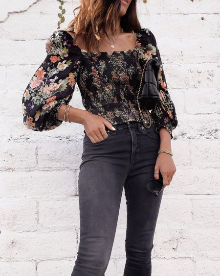 Date night style, date night outfit, blouse, jeans, accessories, StylinByAylin   #LTKunder100 #LTKSeasonal #LTKstyletip