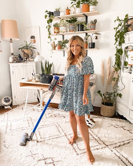 My Dyson vacuum is my favorite house item~ use it daily!!!! Don't know how I lived without it!! LOL!!  Linking my office rug + Target dress.   @liketoknow.it #liketkit http://liketk.it/2V7nB #LTKstyletip #StayHomeWithLTK #targetfinds #houserug #arearug #dyson #qvc #whiterug