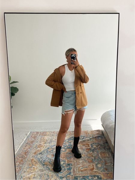 Wearing S in the tank, L in the blazer, my true size in the shoes & went up one size in the shorts!  Follow my shop on the @shop.LTK app to shop this post and get my exclusive app-only content!  #liketkit #LTKsalealert #LTKstyletip #LTKunder50 @shop.ltk http://liketk.it/3lRHi